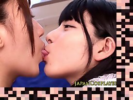 asian lesbian tongue kissing